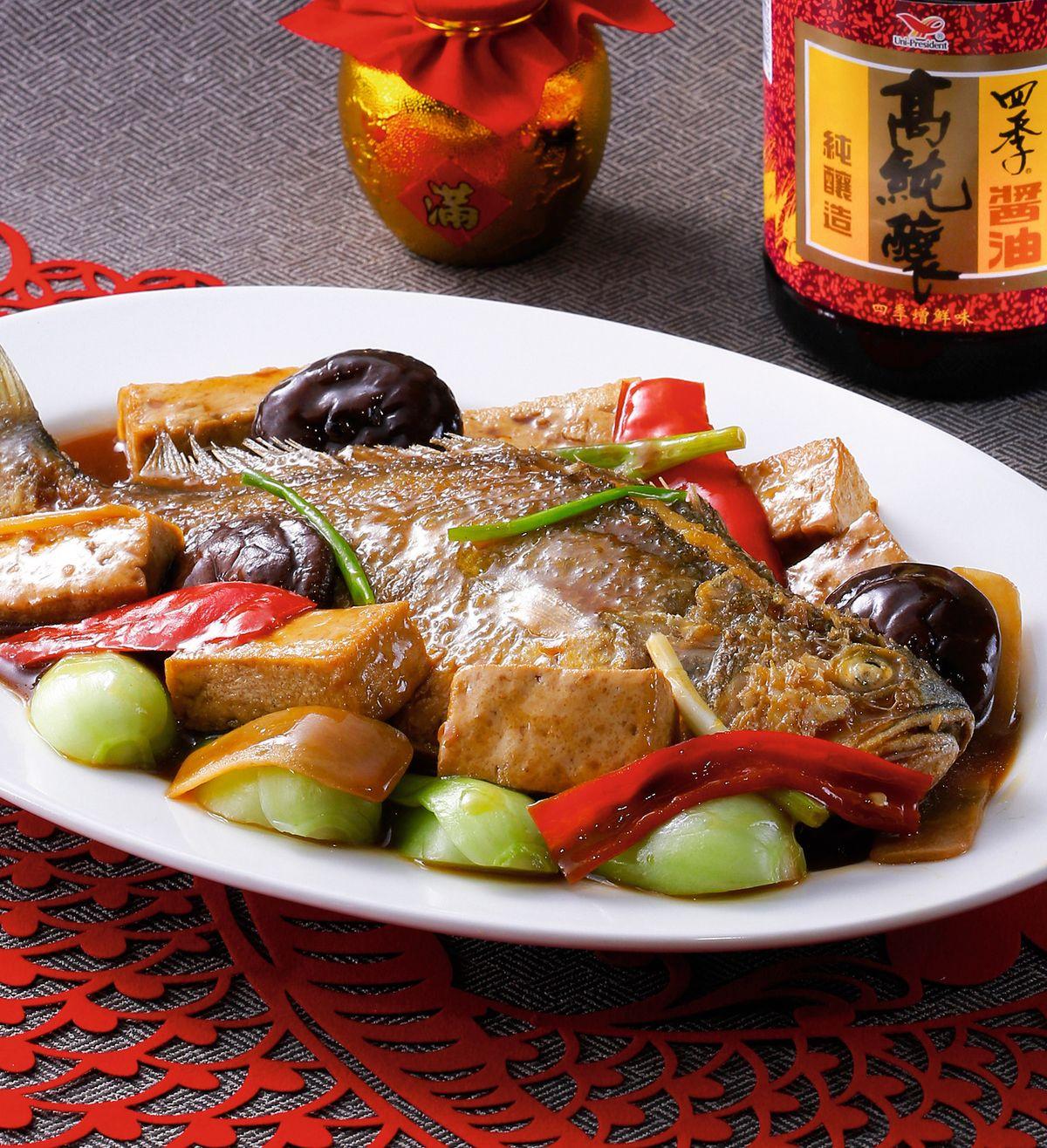 食譜:鴻圖燒黃魚