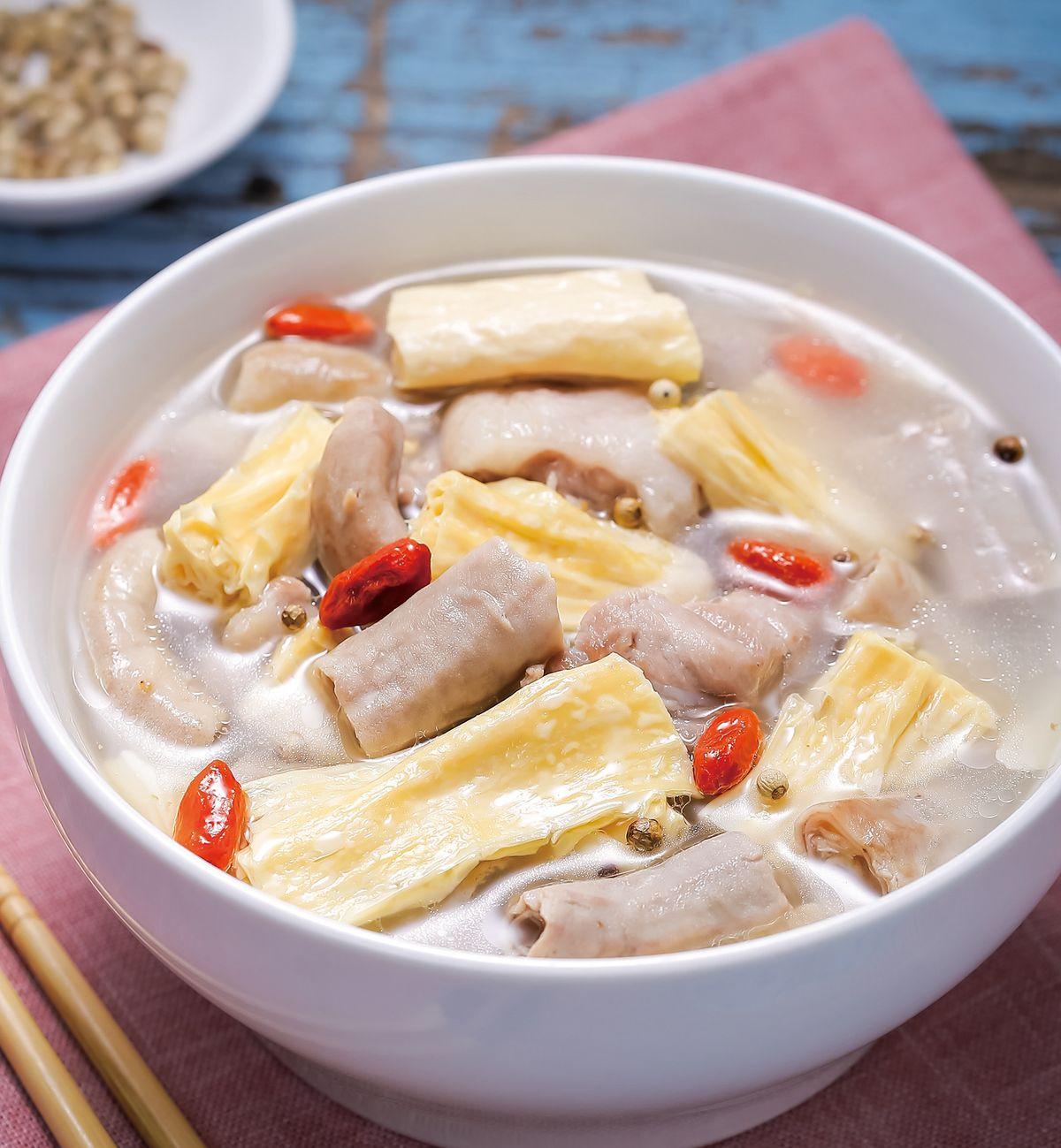 食譜:胡椒腐竹豬腸湯