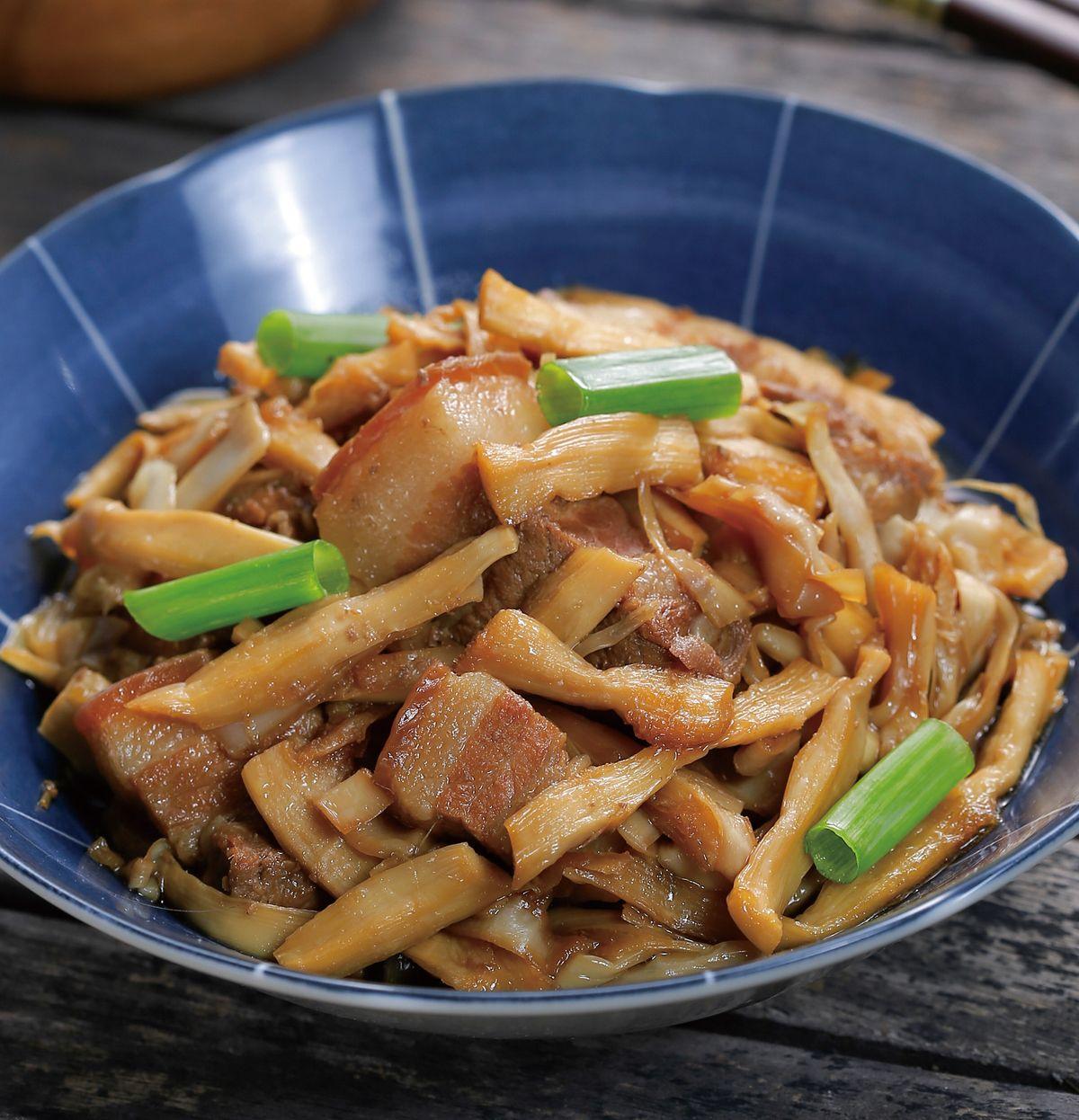 食譜:筍乾燒肉(1)