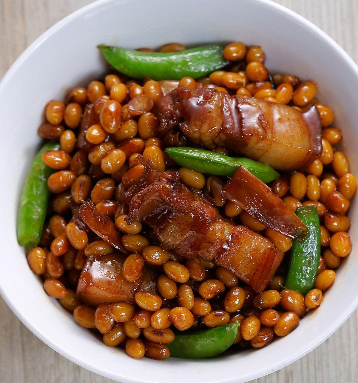 食譜:黃豆燒肉(2)