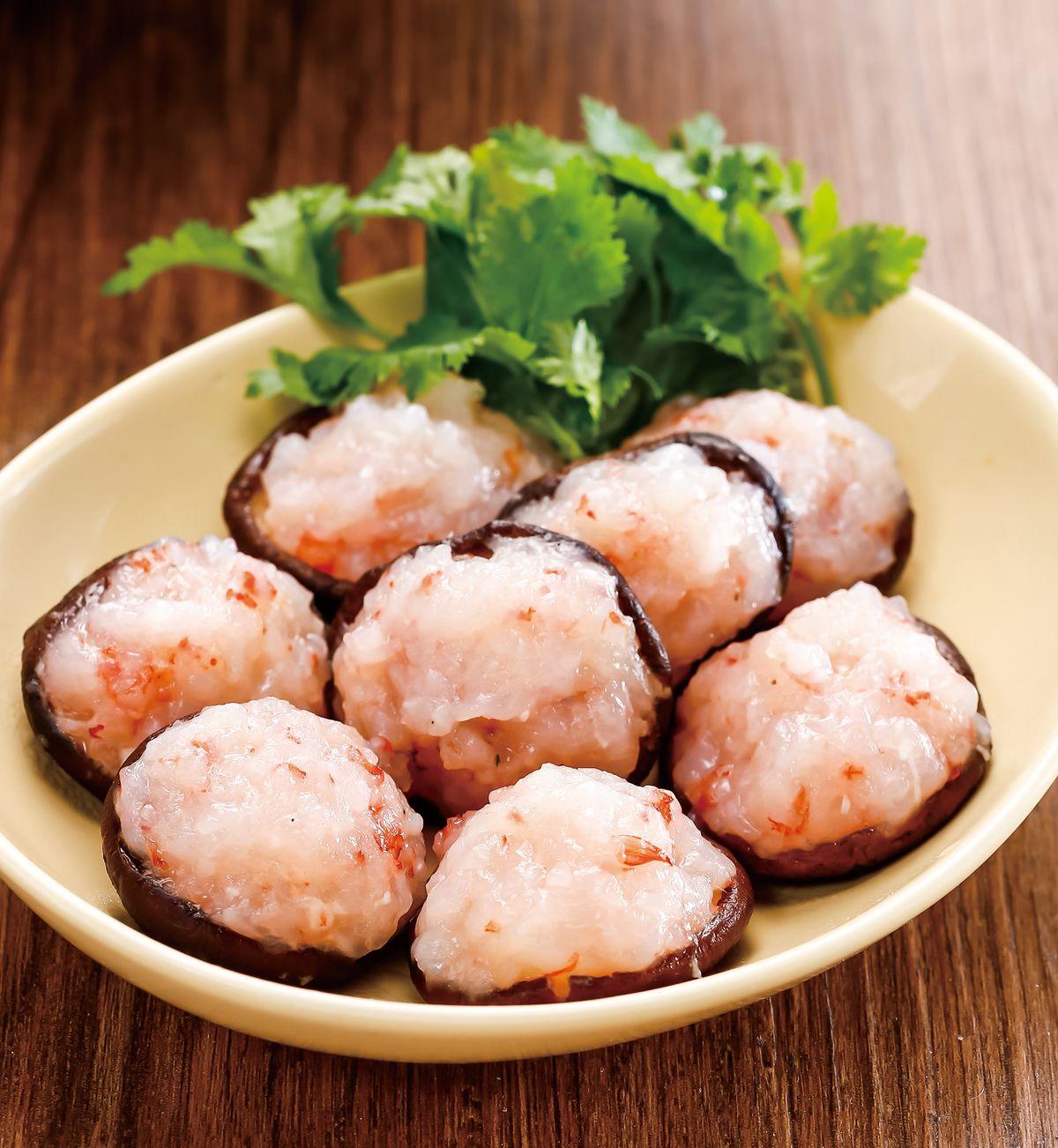 食譜:香菇鑲蝦丸