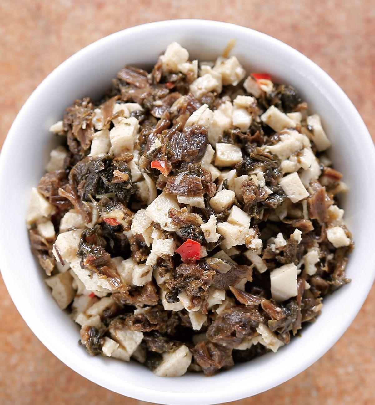 食譜:梅干百頁豆腐