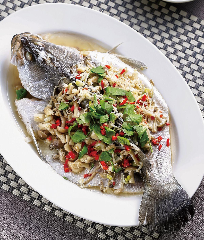食譜:珍菇蒸鮮魚
