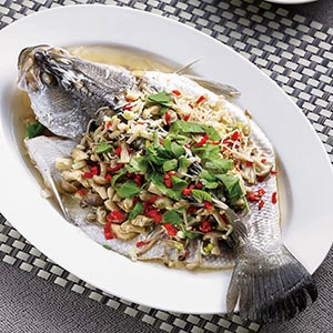 珍菇蒸鮮魚