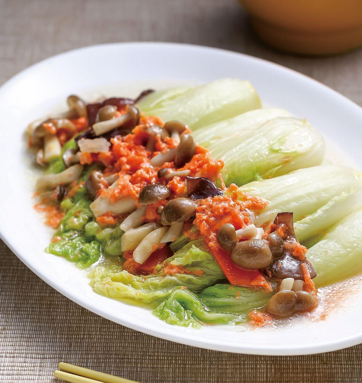食譜:素蟹黃白菜