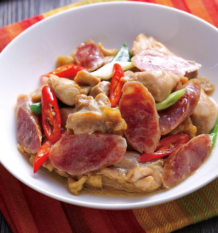 食譜:臘腸蒸雞肉