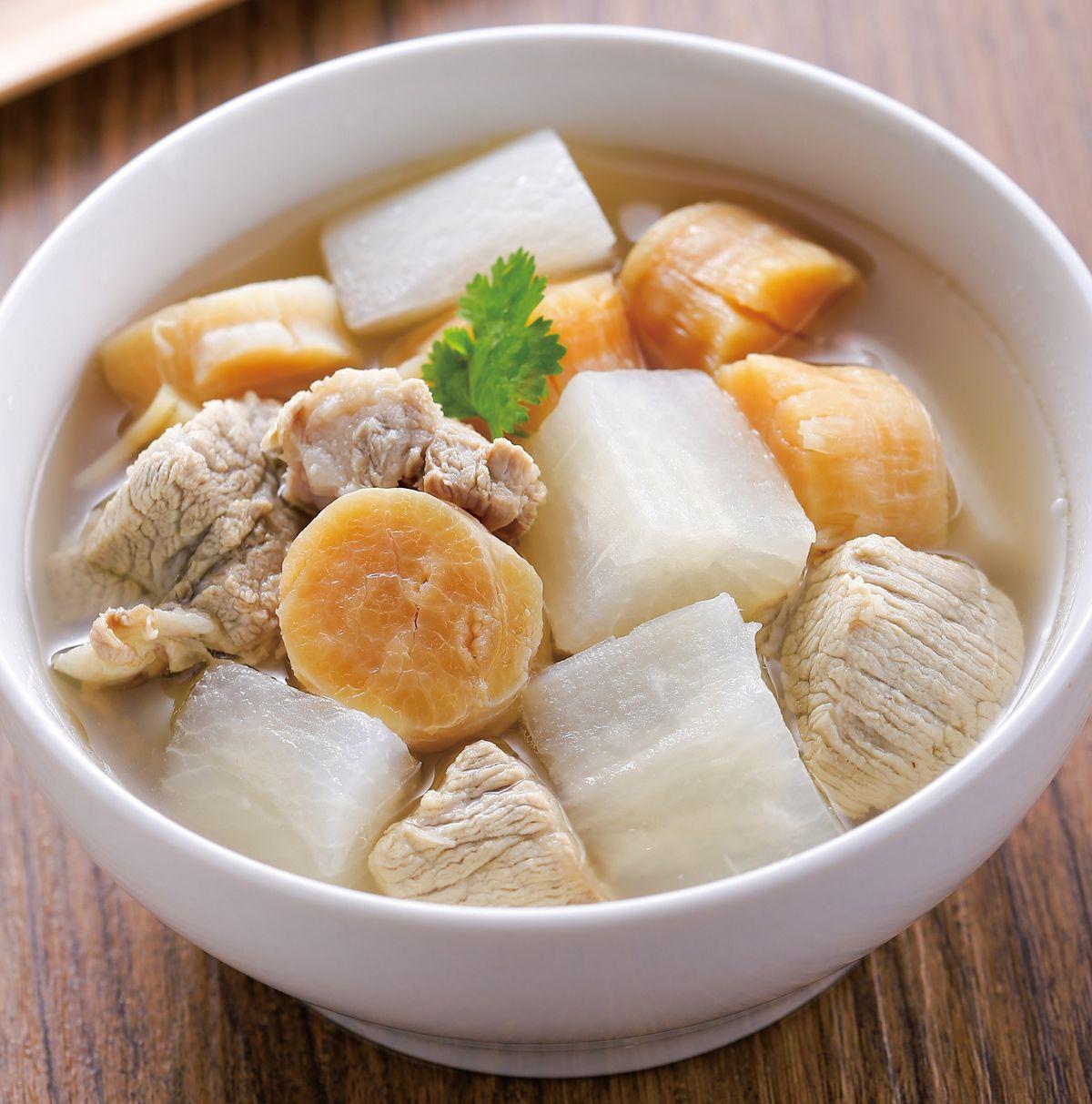 食譜:干貝蘿蔔排骨湯