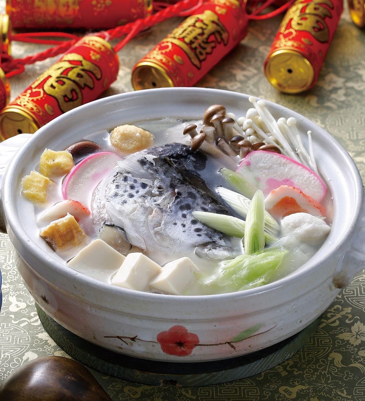 食譜:白菜鮭魚頭團圓鍋