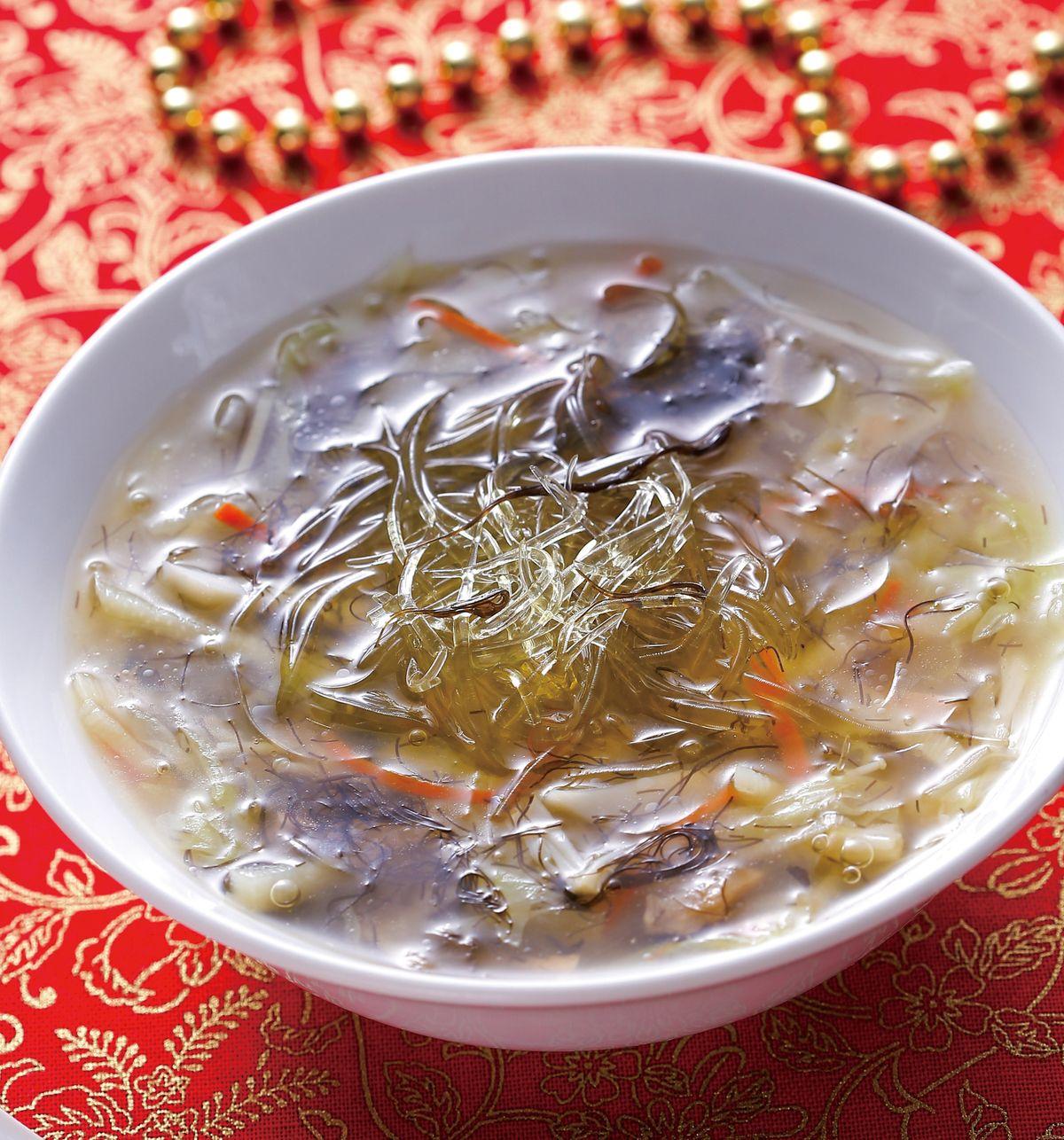 食譜:髮菜素魚翅羹