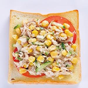 玉米鮪魚土司(1)