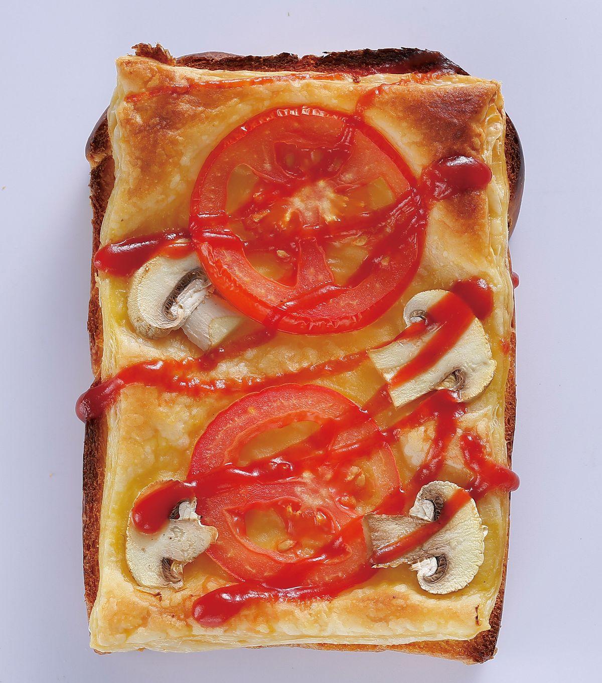 食譜:番茄酥皮土司