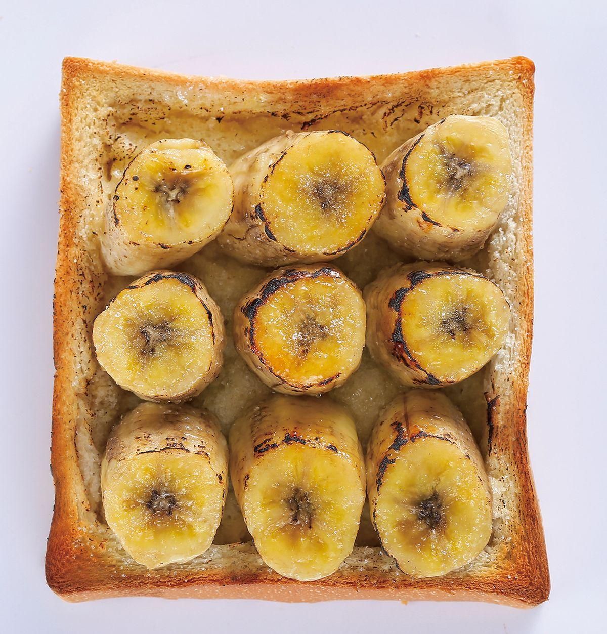 食譜:香蕉糖粒土司