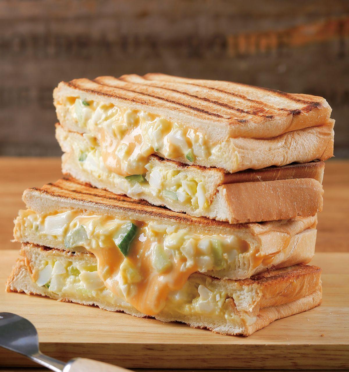 食譜:蛋沙拉熱三明治