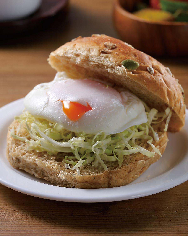 食譜:水波蛋漢堡