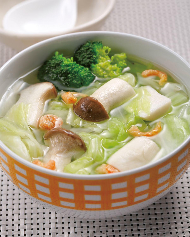 食譜:杏鮑高麗花椰菜湯