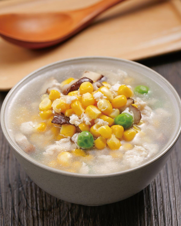 食譜:香菇玉米雞蓉湯