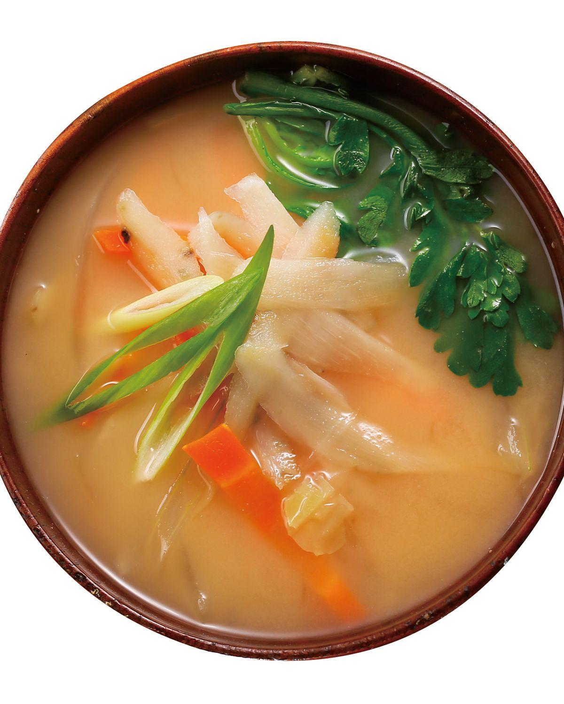 食譜:味噌牛蒡野菜湯