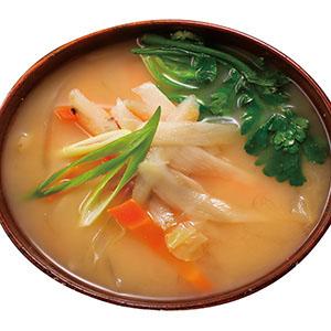 味噌牛蒡野菜湯