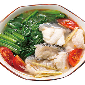 番茄菠菜魚片湯
