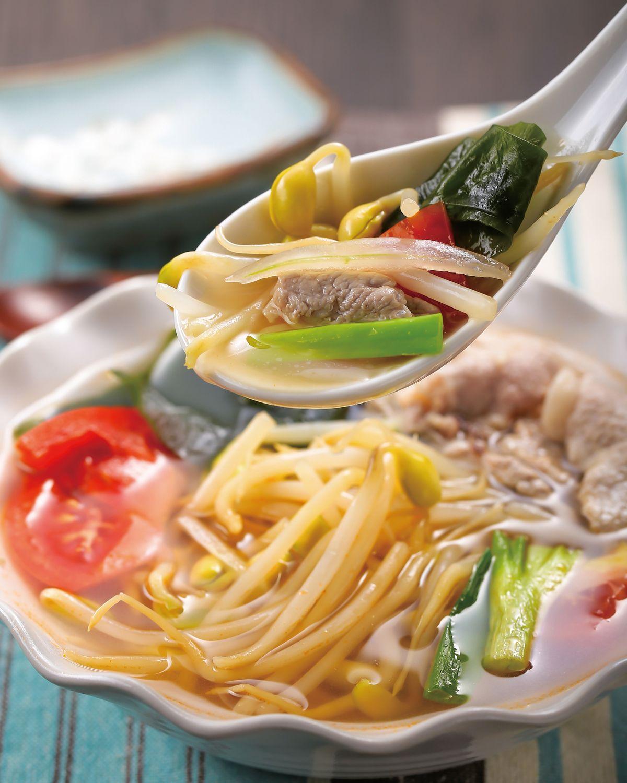 食譜:海帶豆芽肉片湯