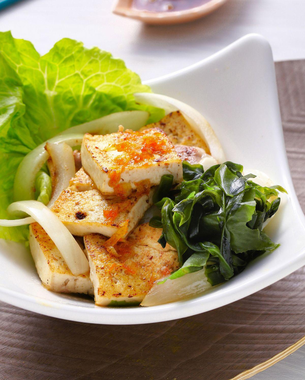 食譜:韓式柚醬豆腐沙拉