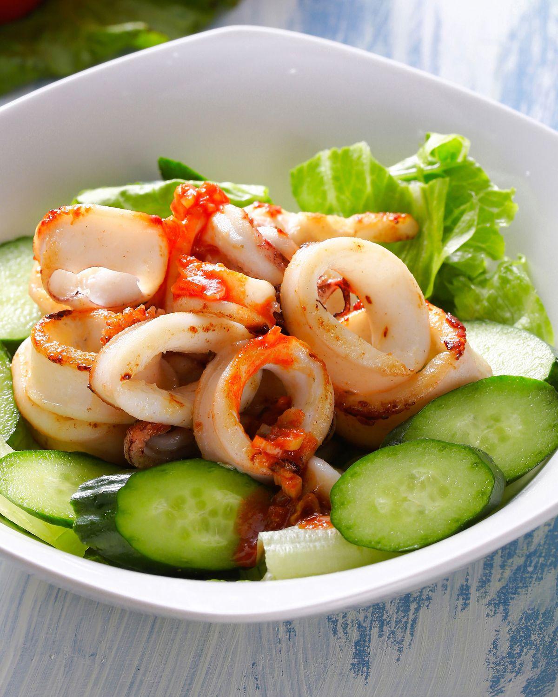 食譜:辣醬拌透抽沙拉