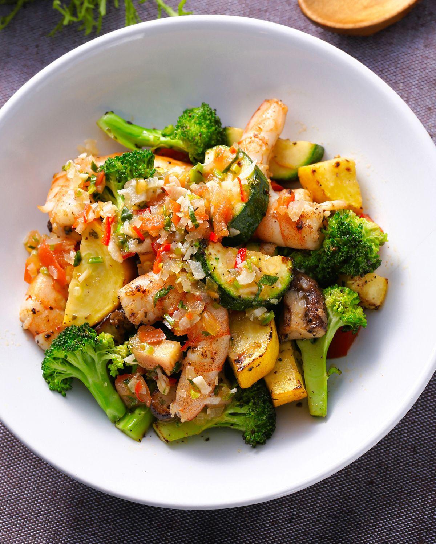 食譜:莎莎醬拌鮮蝦時蔬