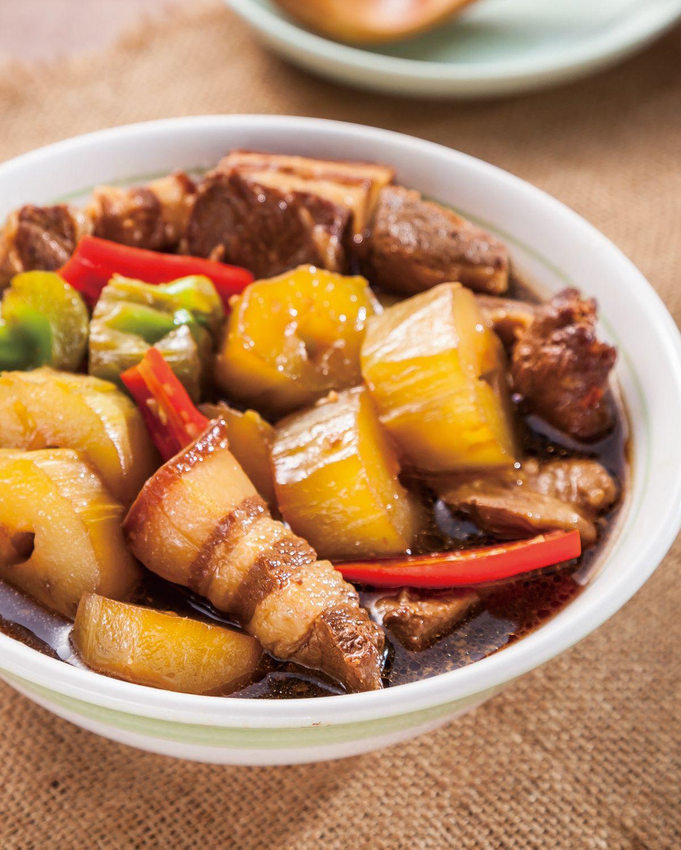 食譜:菜心燉肉