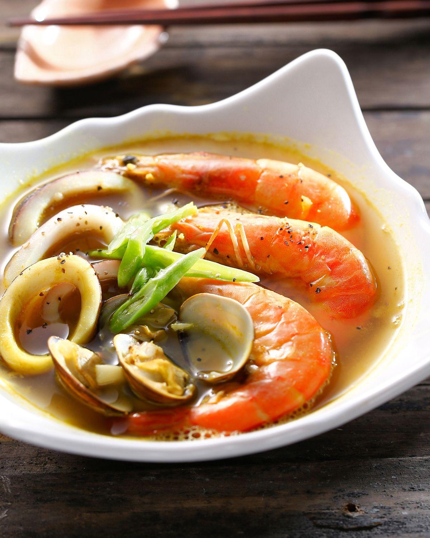 食譜:海鮮湯咖哩