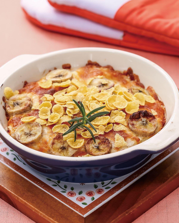 食譜:優格玉米片焗飯