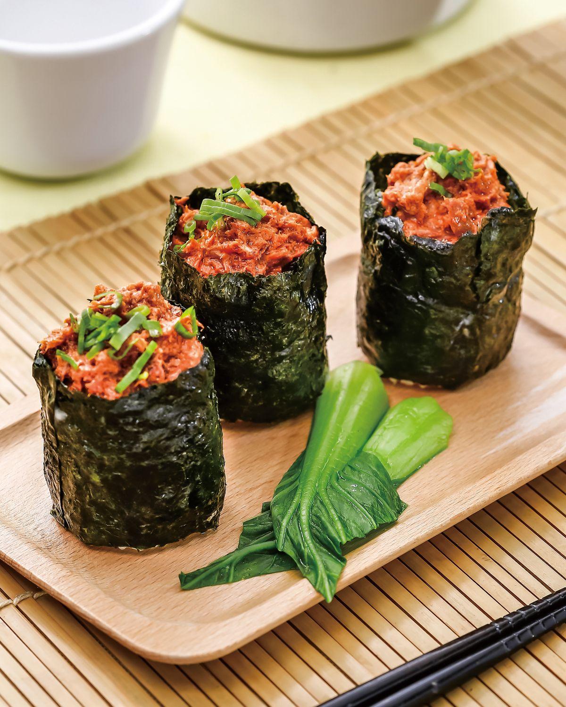 食譜:海苔鮪魚捲