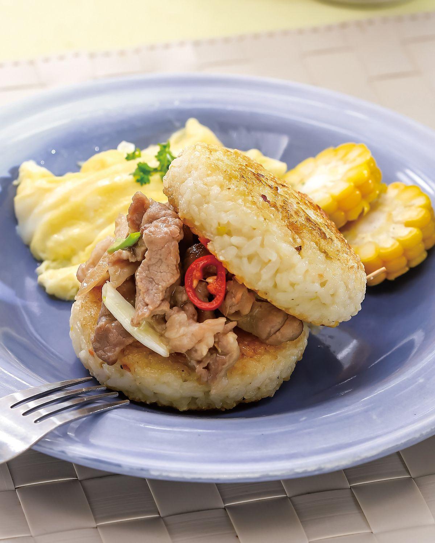 食譜:照燒豬肉米漢堡