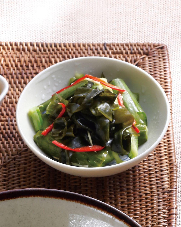 食譜:小黃瓜裙帶芽拌菜