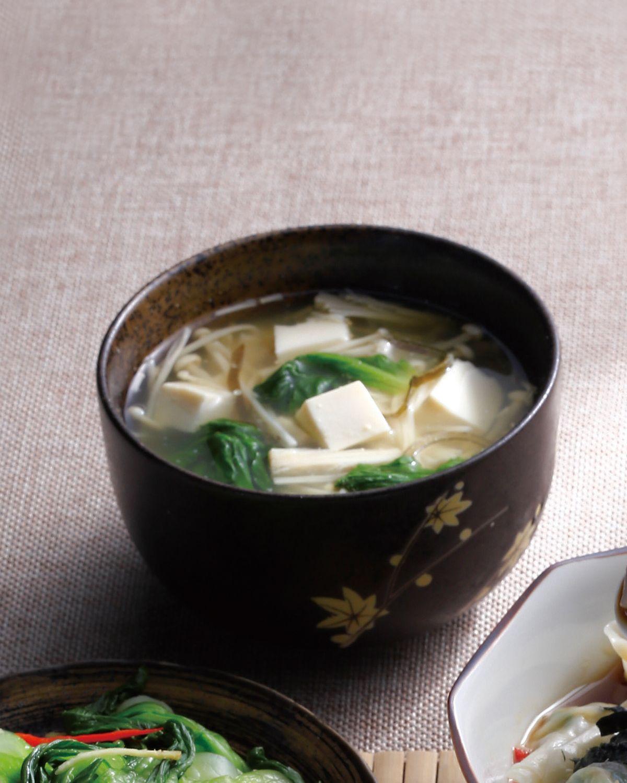 食譜:金針昆布豆腐味噌湯