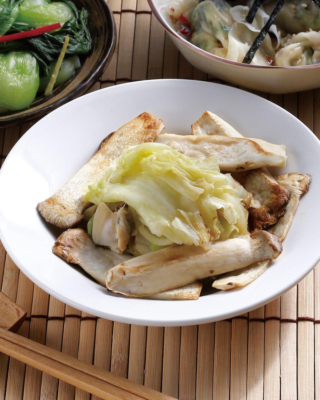 食譜:燜煮杏鮑菇高麗菜