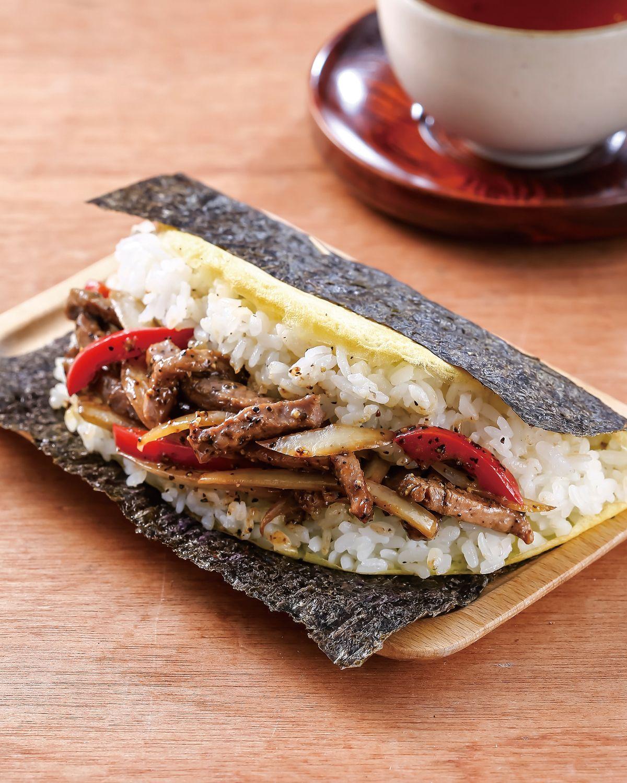 食譜:黑椒牛肉飯糰