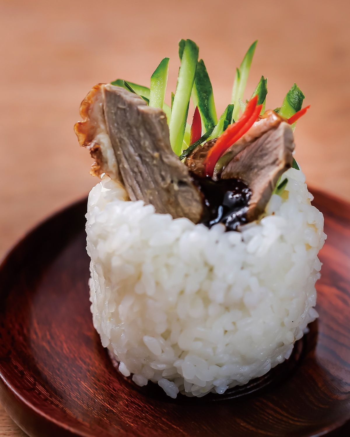 食譜:京醬烤鴨飯糰