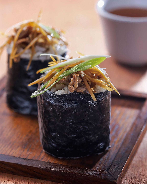 食譜:牛蒡燒肉飯卷