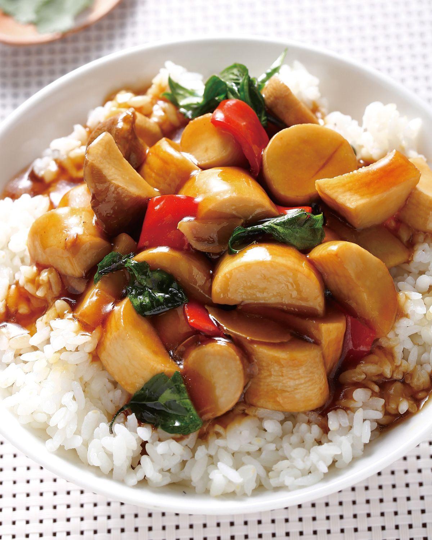 食譜:三杯杏鮑菇蓋飯