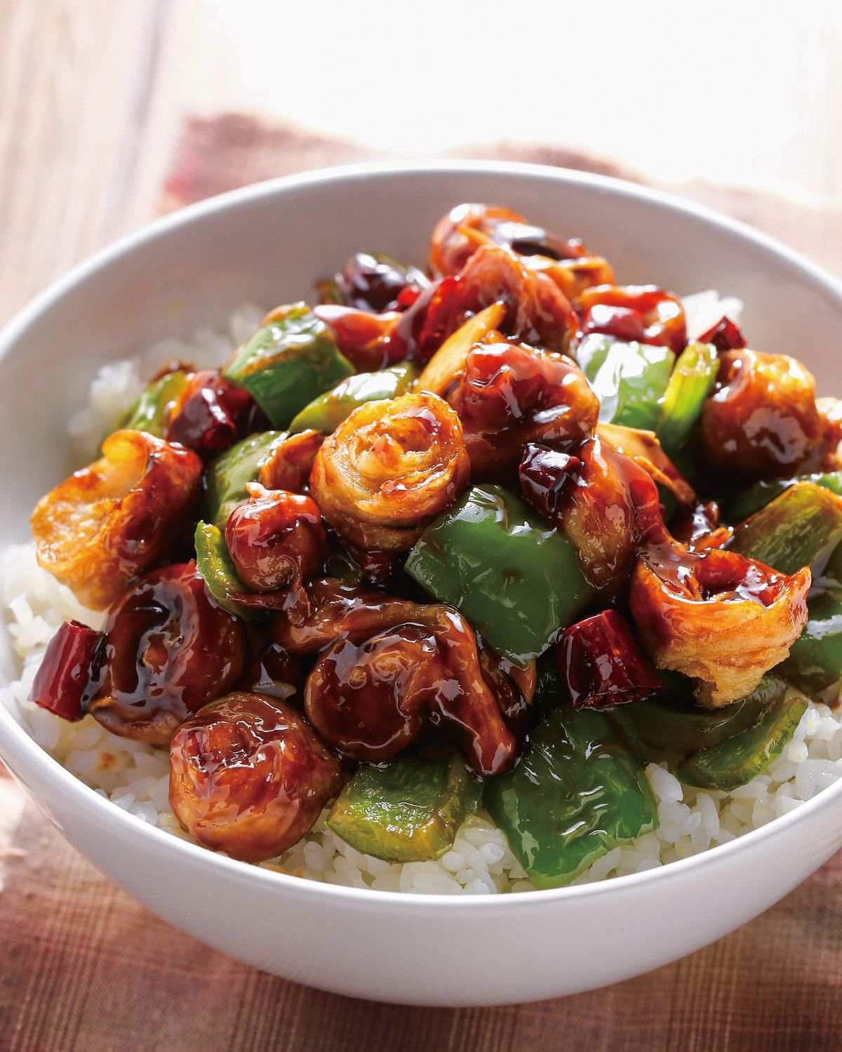 食譜:素宮保雞丁蓋飯