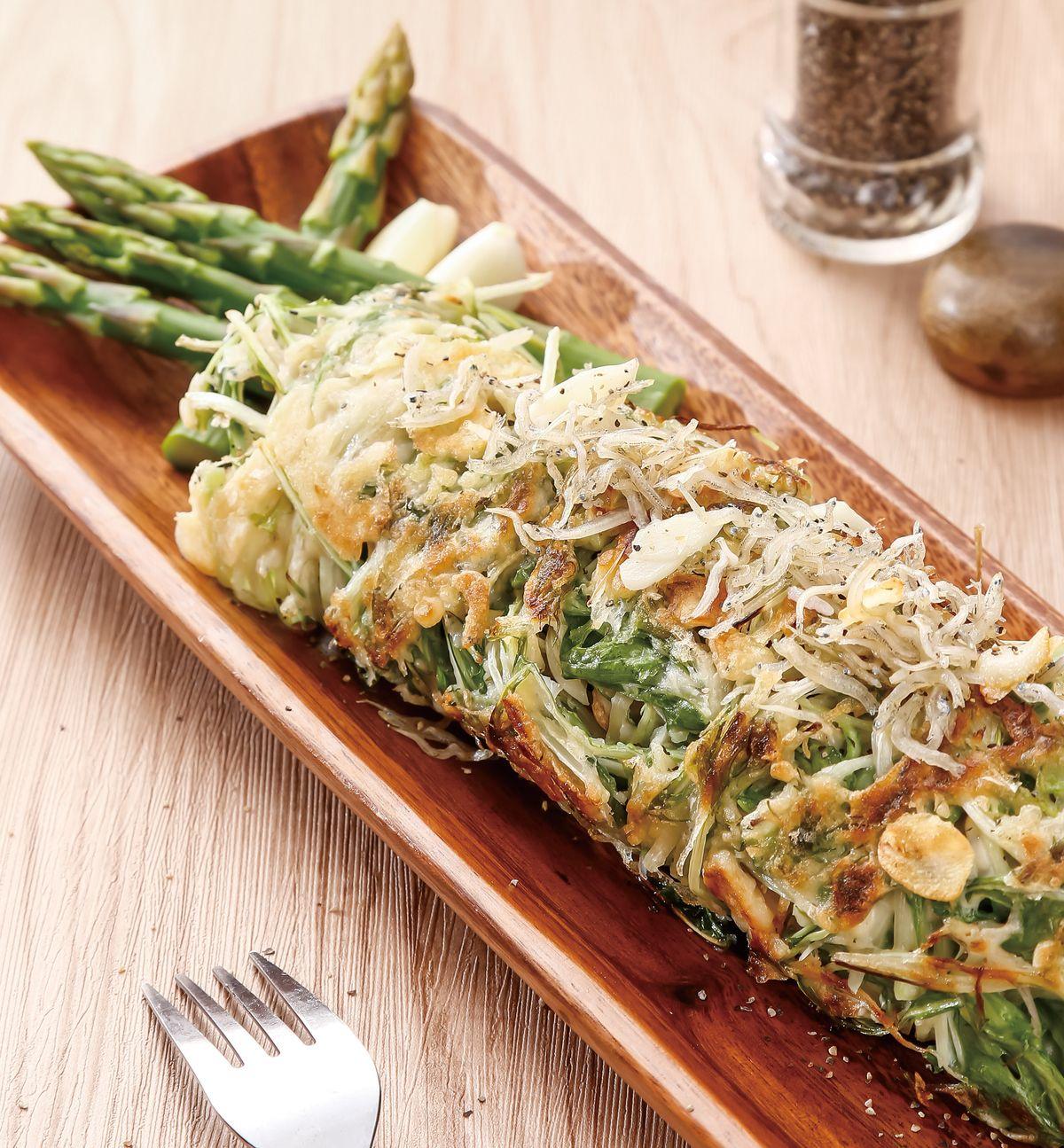 食譜:水菜小魚煎餅