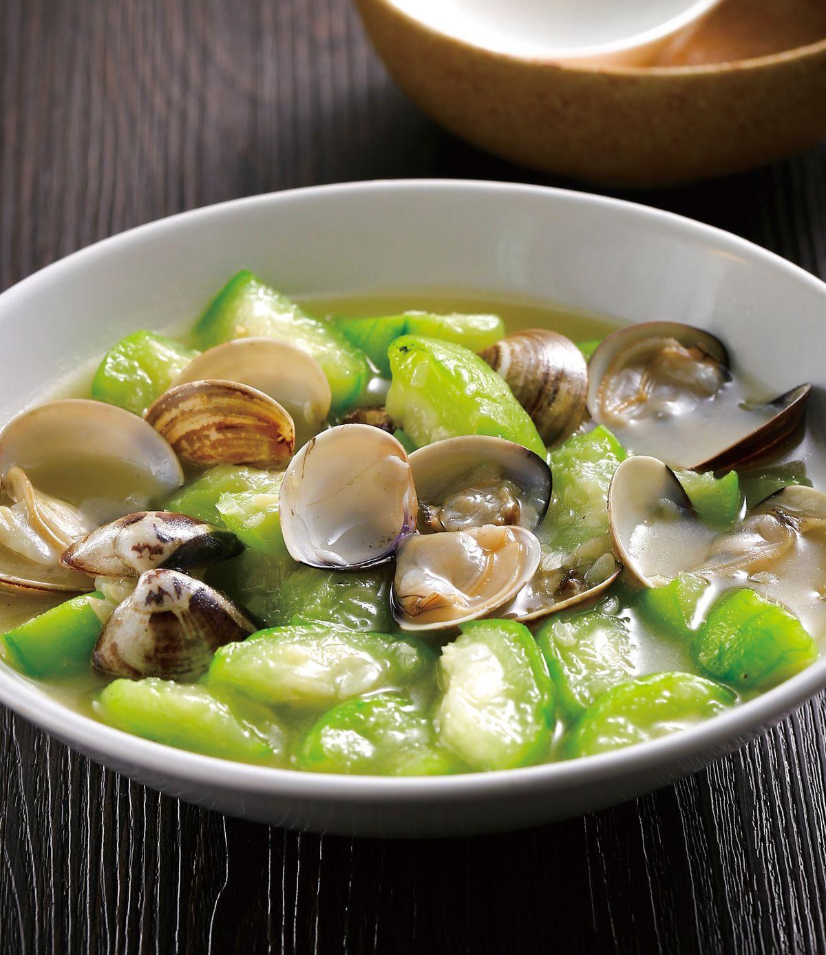 食譜:蛤蜊絲瓜(14)