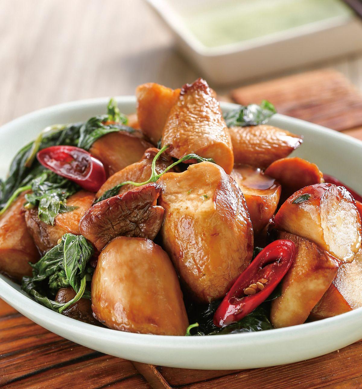 食譜:塔香杏鮑菇