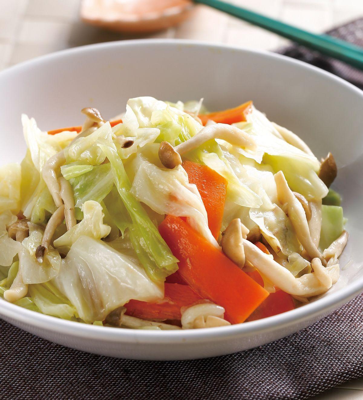 食譜:野菇炒高麗菜