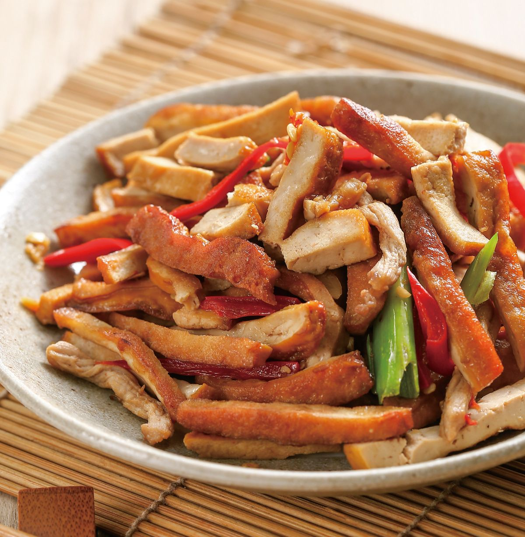 食譜:豆干炒肉絲(3)