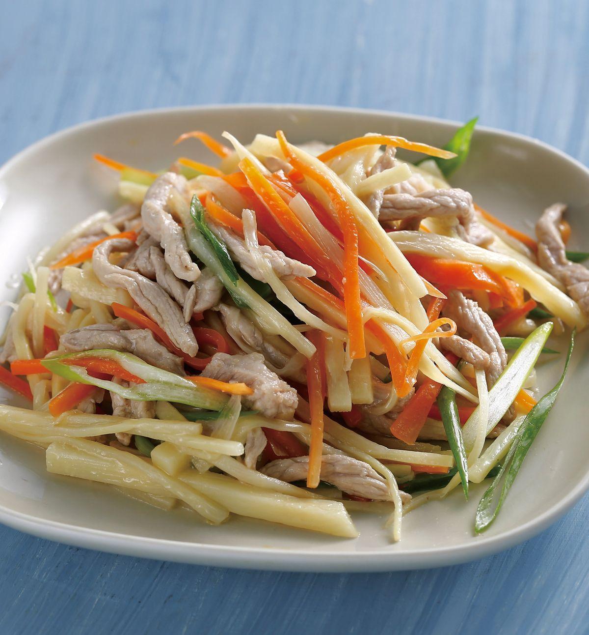 食譜:竹筍炒肉絲(6)