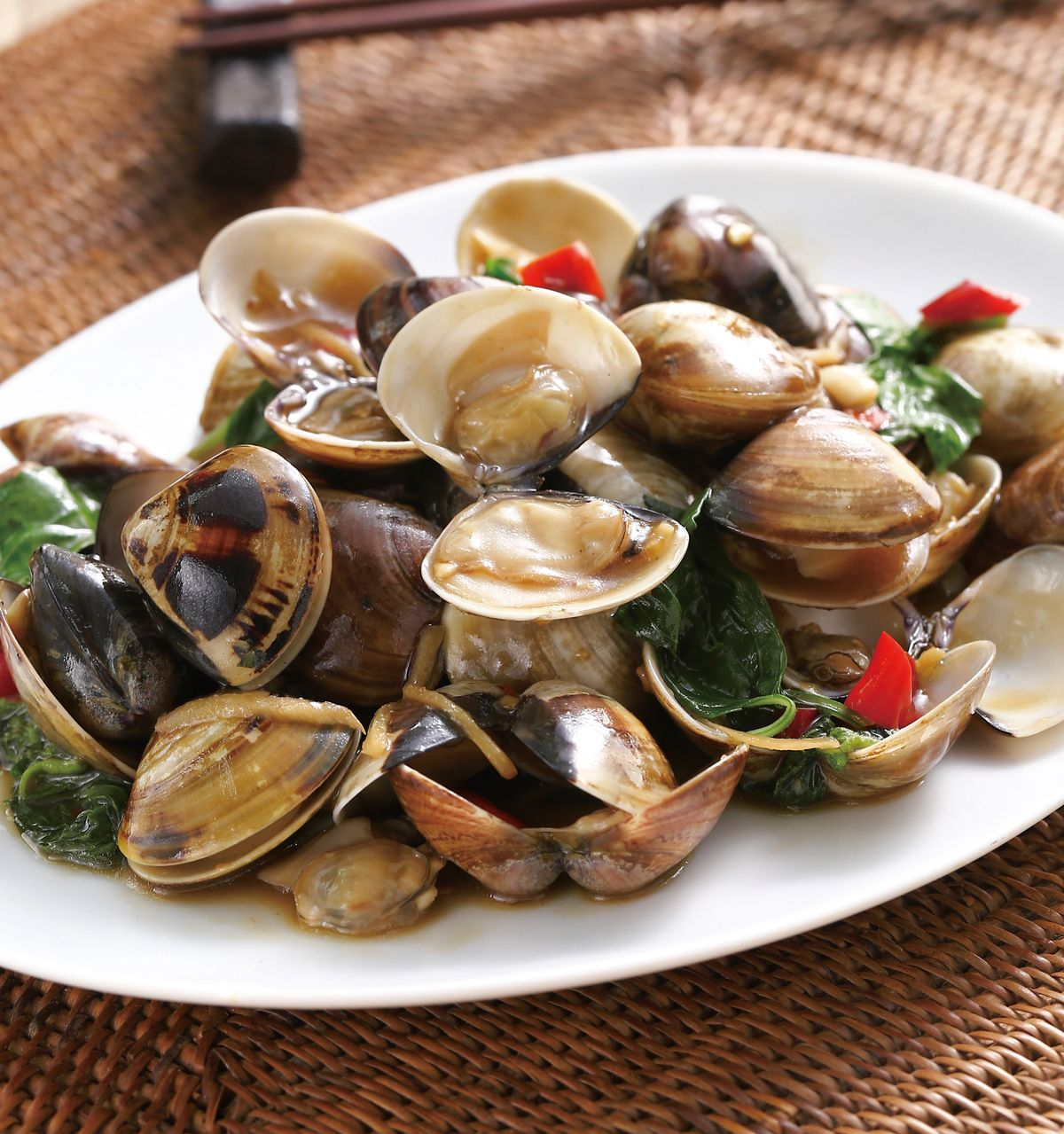食譜:塔香炒蛤蜊(4)
