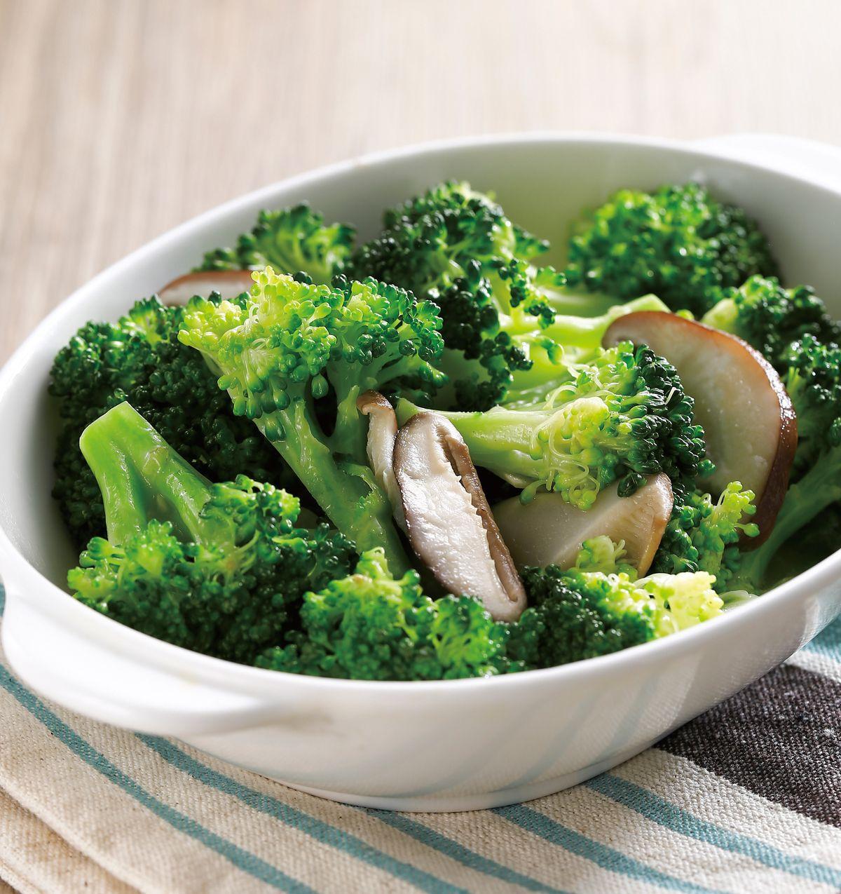 食譜:鮮香菇炒綠花椰菜