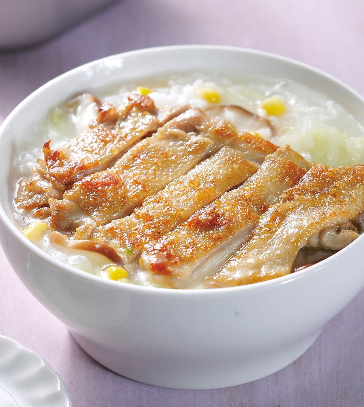 食譜:雞腿排粥