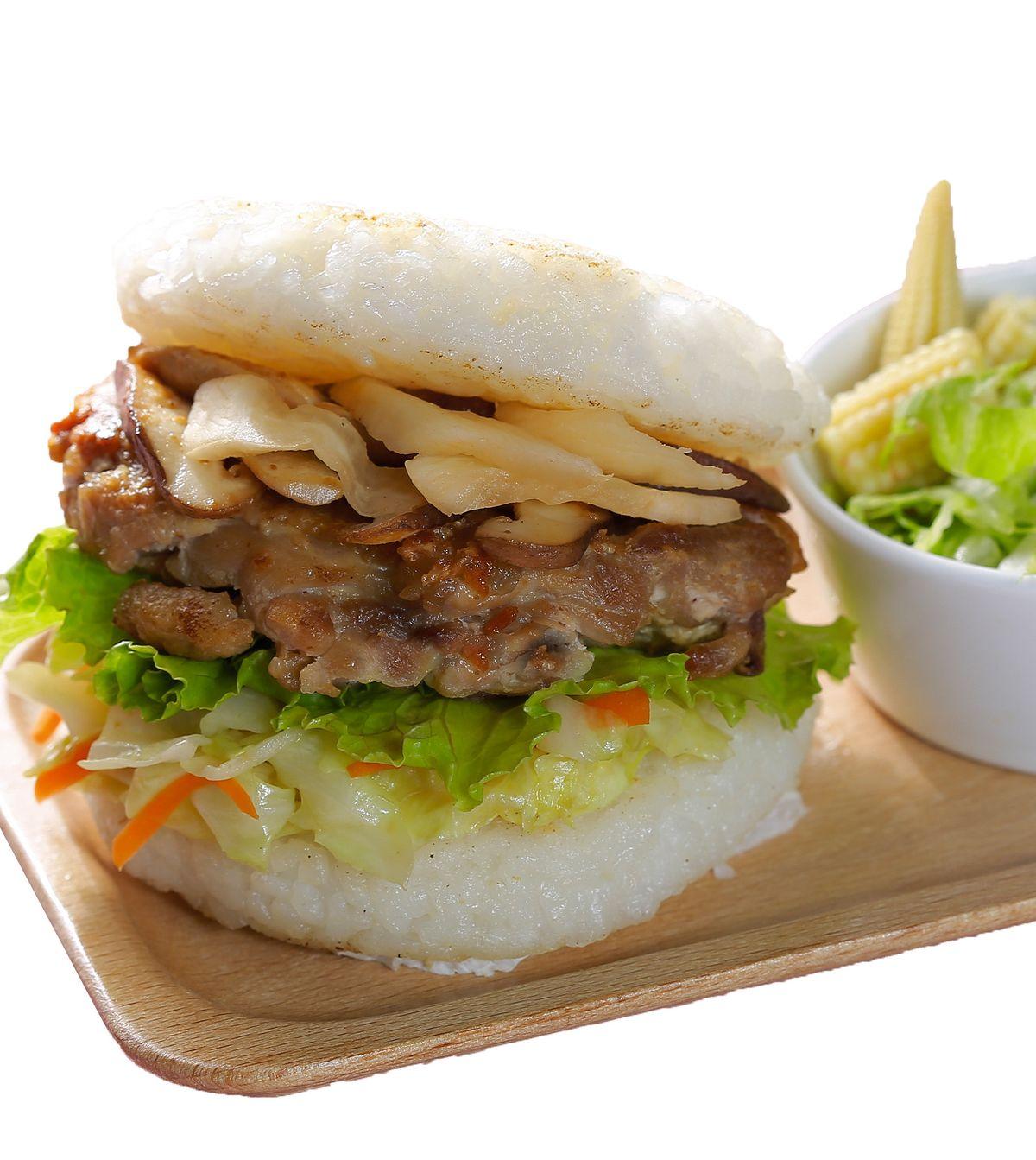 食譜:雞排米漢堡